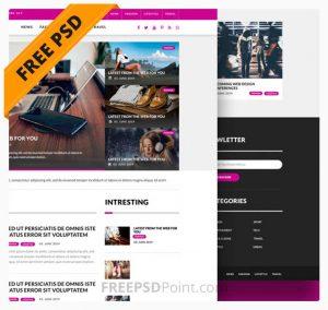 Free Multipurpose Magazine Blog Website PSD Template