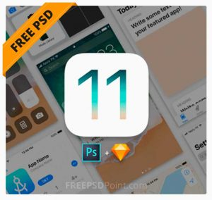 iOS 11 Free UI Kit Download for Photoshop & Sketch