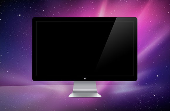 Apple Monitor Mockup PSD Free Download