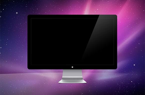 Apple Monitor Mockup PSD Free Download